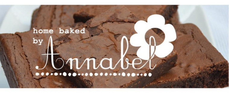 home baked by annabel - logo and brownie