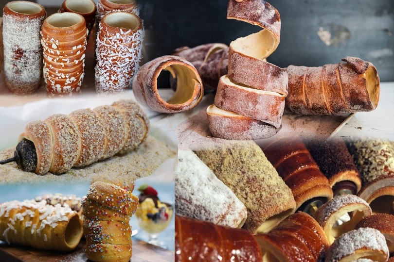 Chimney Cake Collage