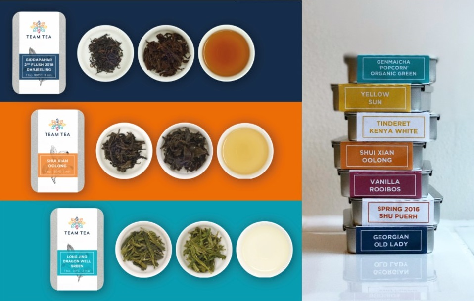 Team Tea Collage with tins